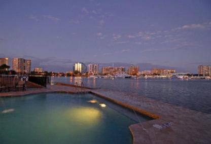 Pool area on Sarasota Bay